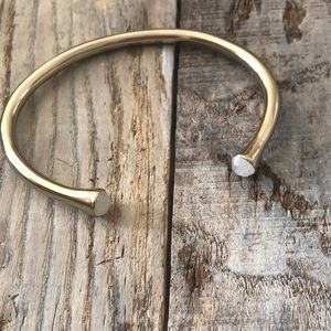 Melinda Maria Gold/ White Bracelet